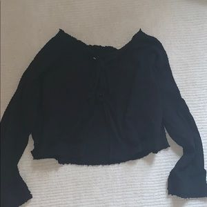 Free People Tops - Free people black sweater/ top size xs